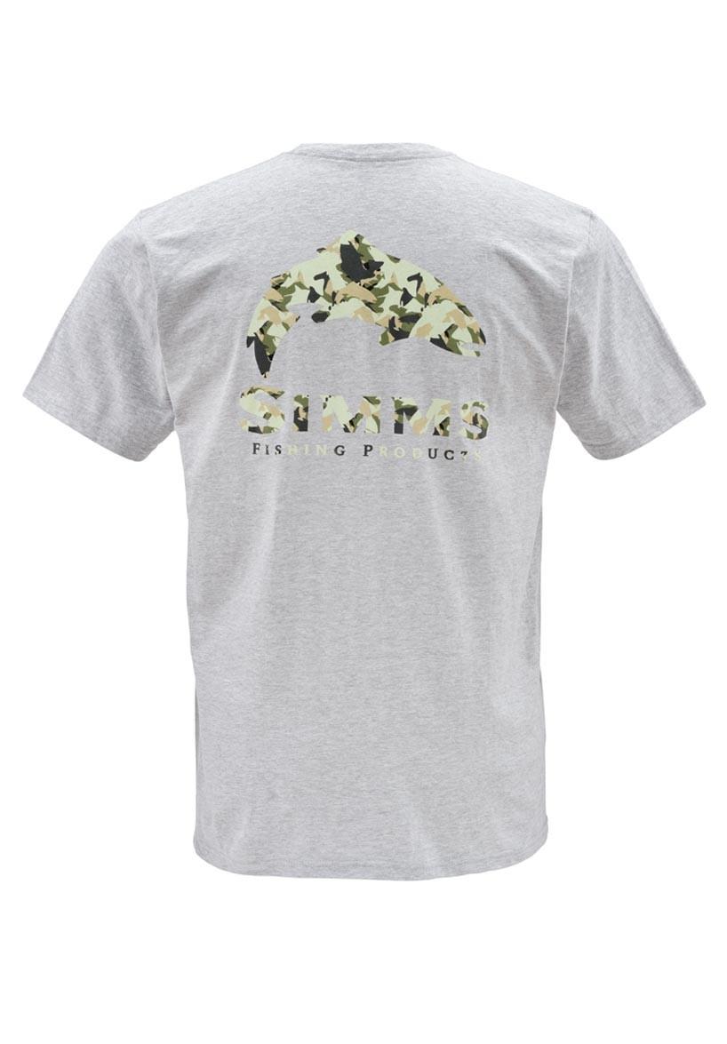 Ash Grey- Simms Camo Trout SS T-Shirt