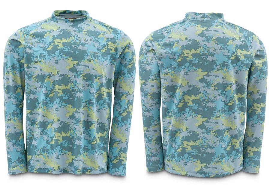 Saltwater Camo- Simms Solarflex Shirt LS Prints