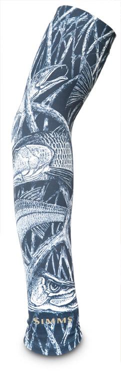 Black- Simms Sunsleeve Print Gloves