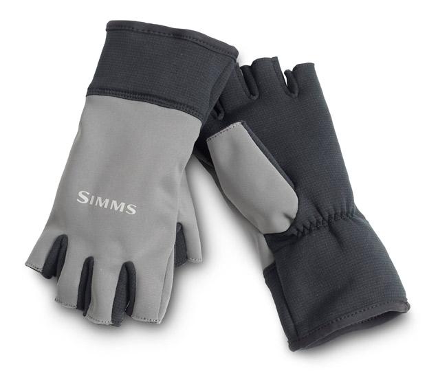 Gunmetal- Simms WINDSTOPPER Half-finger Gloves