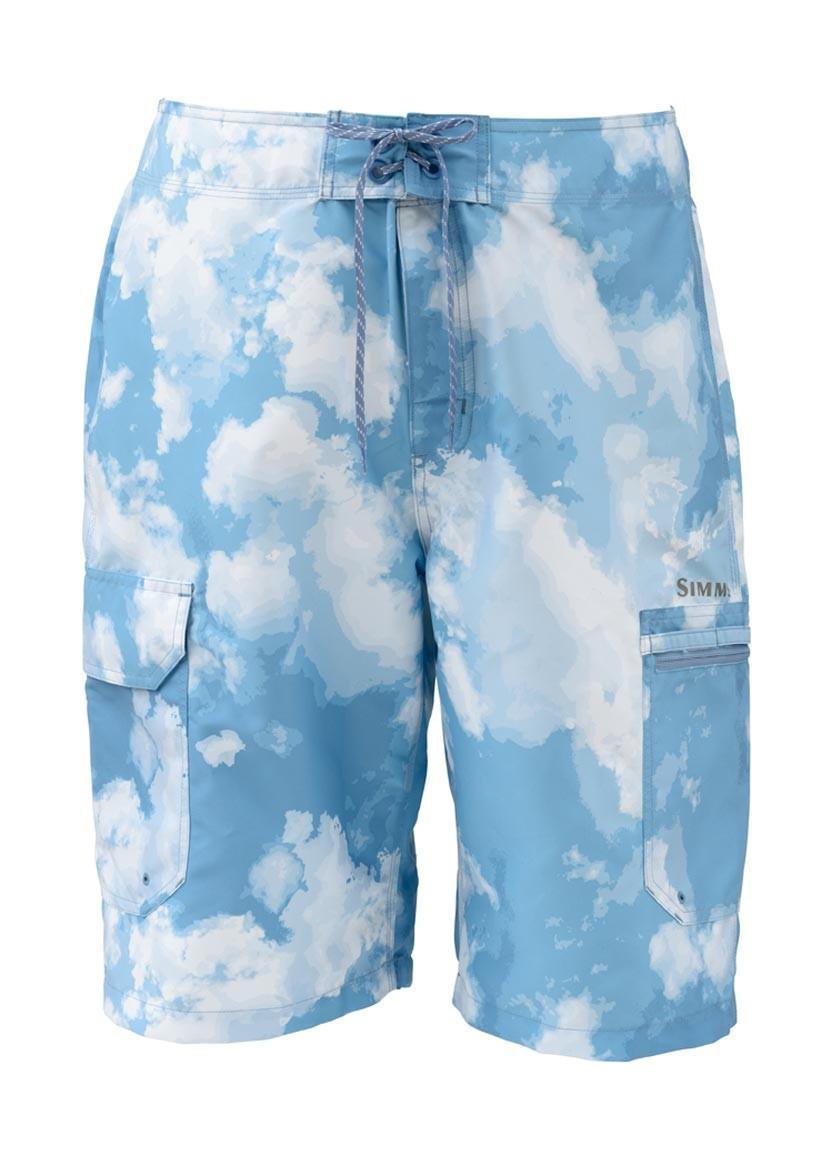 Blue Cloud Camo- Simms Surf Short