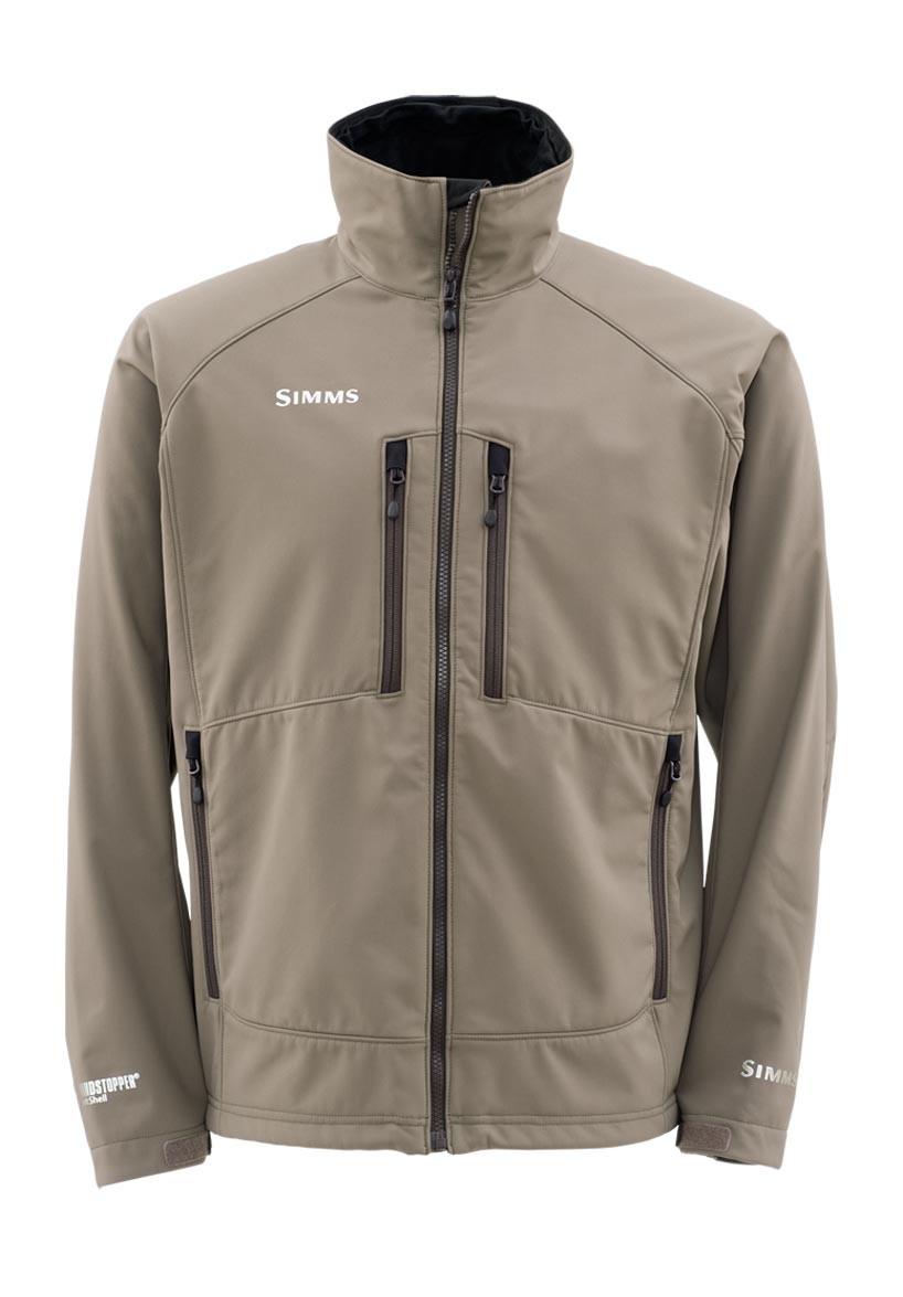 Dark Elkhorn- Simms Windstopper Softshell Jacket