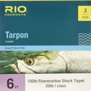 Rio Tarpon Leader 6ft Shock 3-Pack