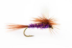 Adams UV Purple Parachute Dry Fly