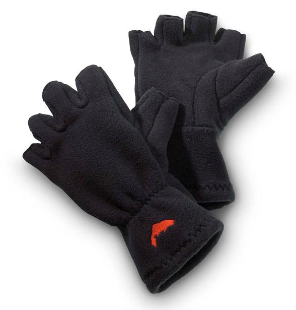 Black- Simms Freestone Half-finger Gloves